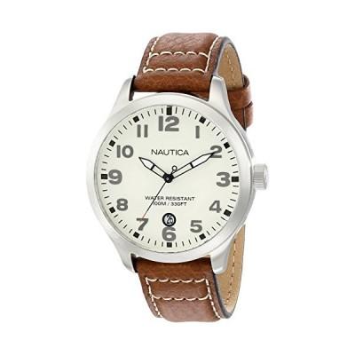 ノーティカ NAUTICA Men's N09560G BFD 101 Stainless Steel Watch with Brown Leather Band 並行輸入品
