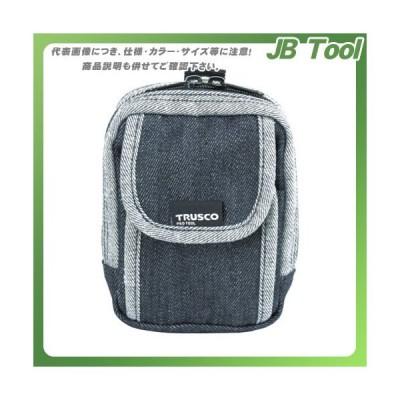 TRUSCO デニム携帯電話用ケース 2ポケット ブラック TDC-H102