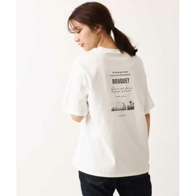 a.v.v/アー・ヴェ・ヴェ 【抗菌/防臭加工】フォトプリントTシャツ アイボリー XS