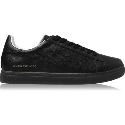 アルマーニ Armani Exchange メンズ スニーカー シューズ・靴 Ax Plain Sneaker Sn04 Black/BlackK