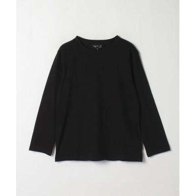 【アニエスベー】 J000 TS コットンTシャツ レディース ブラック 2 agnes b.