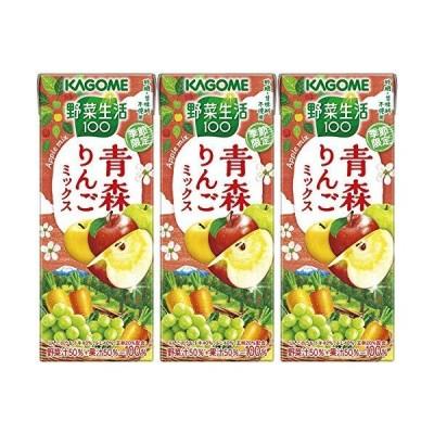 カゴメ 野菜生活100 青森りんごミックス 195ml ×3本
