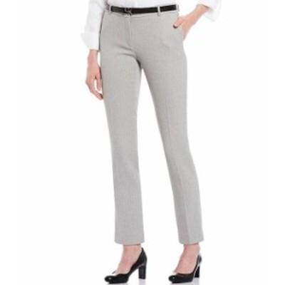 カルバンクライン レディース デニムパンツ ボトムス Petite Size Stretch Twill Suiting Belted Ankle Pant Tin White