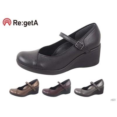 Re:getA リゲッタ R601 パンプス ウェッジヒール 切り替えし 6cmヒール フォーマル 歩きやすい 履きやすい