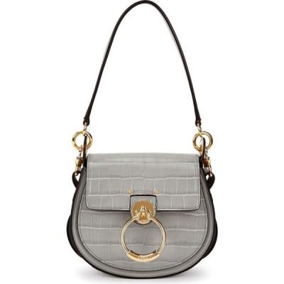 クロエ Chloe レディース ショルダーバッグ バッグ tess grey crocodile-effect leather shoulder bag Grey