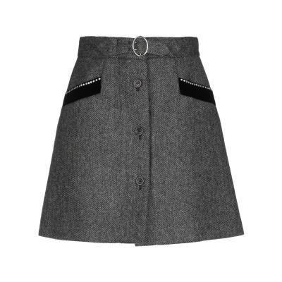 ミュウミュウ MIU MIU ミニスカート 鉛色 40 バージンウール 100% / 金属 / ガラス ミニスカート