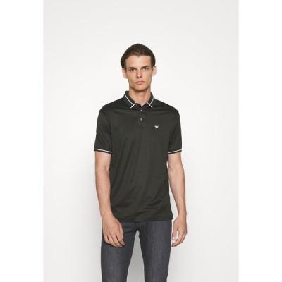 エンポリオ アルマーニ ポロシャツ メンズ トップス Polo shirt - verde scuro
