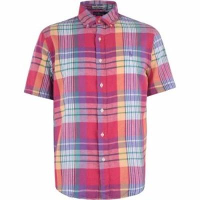 ラルフ ローレン POLO RALPH LAUREN メンズ 半袖シャツ トップス Madras Short Sleeve Shirt Red Multi