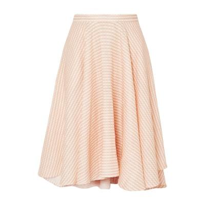 MIGUELINA 7分丈スカート あんず色 S リネン 100% 7分丈スカート