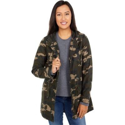 リーバイス Levi's レディース ジャケット フード アウター Printed Cotton Hooded Fishtail Parka Jacket Camo