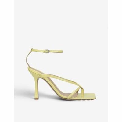 ボッテガ ヴェネタ BOTTEGA VENETA レディース サンダル・ミュール シューズ・靴 Stretch leather heeled sandals GREEN