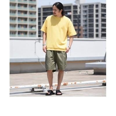 【WEB限定】SHIPS: 《Tシャツとショーツがセット》 Stylish Standard ロゴ セットアップ Tシャツ