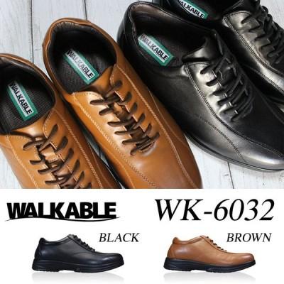 WALKABLE ビジネスシューズ WK-6032 メンズ 黒 ブラウン 24.5cm〜27.0cm