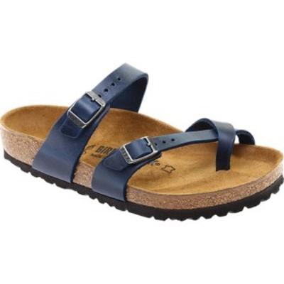 ビルケンシュトック レディース サンダル シューズ Mayari Oiled Leather Strappy Sandal Blue Oiled Leather