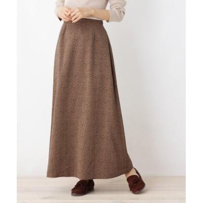 OPAQUE.CLIP(オペークドットクリップ) 【洗える・42(LL)WEB限定サイズ】ジョーゼットシックレオパードマキシスカート