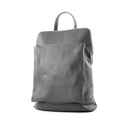 modamoda de - ital. Leather Backpack Backpack 3in1 Backpack Citybag T141, Colour:dark gray 並行輸入品