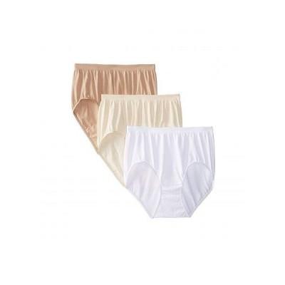 Bali レディース 女性用 ファッション 下着 ショーツ Comfort Revolution Seamless Briefs 3-Pair - Beige/Nude/White