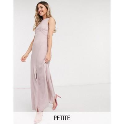 ティーエフエヌシー ミディドレス レディース TFNC Petite bridesmaid cowl back maxi dress in pink エイソス ASOS ピンク