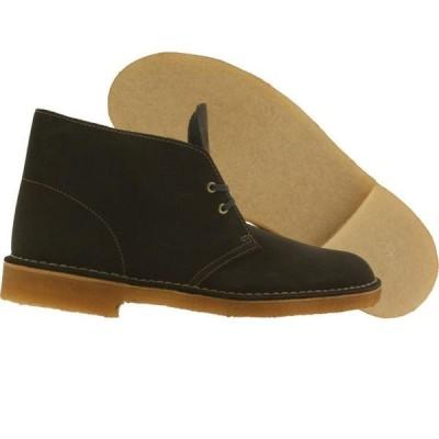 クラークス メンズ シューズ  Clarks Men Desert Boot (olive / loden green suede)