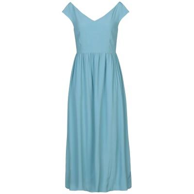 1-ONE 7分丈ワンピース・ドレス パステルブルー 44 アセテート 69% / シルク 31% 7分丈ワンピース・ドレス