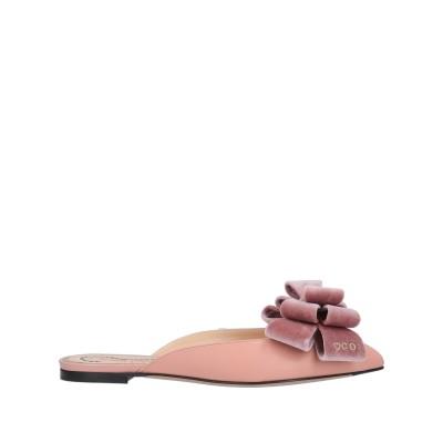 シャーロット・オリンピア CHARLOTTE OLYMPIA ミュールサボ ピンク 35 革 / 紡績繊維 ミュールサボ