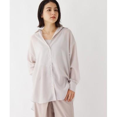 OPAQUE.CLIP / 【WEB限定サイズ】ライトシアー オーバーサイズシャツ WOMEN トップス > シャツ/ブラウス