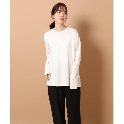 DRESSTERIOR / 【CLASSY.5月号掲載】SUVINコットンロングTシャツ WOMEN トップス > Tシャツ/カットソー