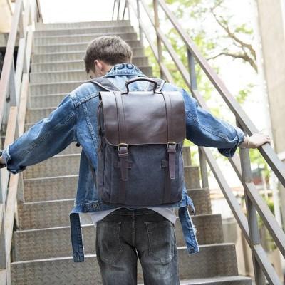 通学 通勤 おしゃれ 旅行 アウトドア リュック メンズ リュックサック かばん 鞄 カバン 20代 30代 40代 カジュアル 男性 帆布 ズック 大容量 PC収納 バッグ