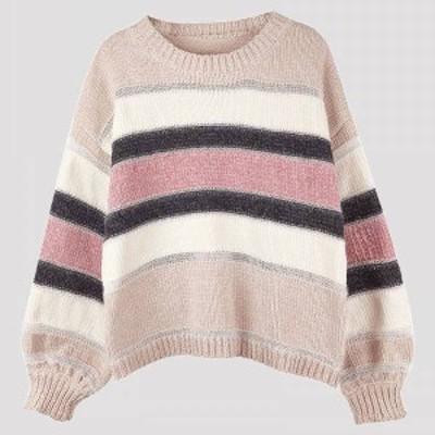 セーター レディースセーター ニットセーター 春秋 女子力up  オシャレ ゆったり 通勤 長袖 大人可愛い 手触り良い カジュアル