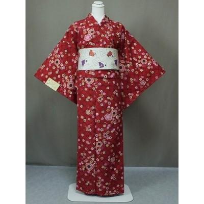 着物 仕立上り着物  おしゃれな 袷 仕立て小紋 着物 小紋着物 仕立上りポリエステルの着物 送料無料 Lサイズ U1015-01