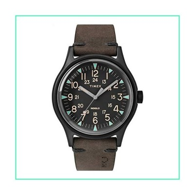 Timex MK1 40 mm Black Stainless Steel Brown Leather Watch TW2R96900並行輸入品