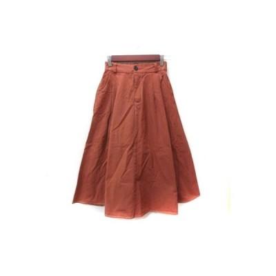 【中古】フィフス fifth ロングスカート フレア 茶 ブラウン /YI レディース 【ベクトル 古着】