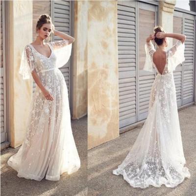 カラードレス パーティドレス ウェディングドレス ロング 花嫁 披露宴 二次会 発表会 結婚式 S~XL/NLF82