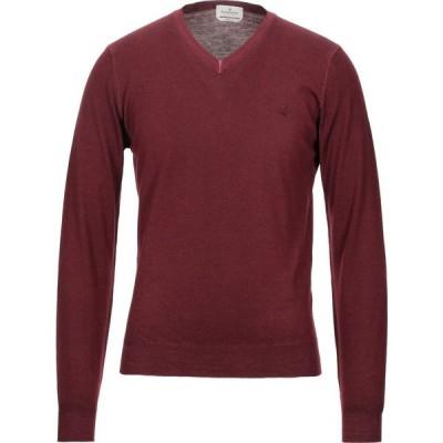 ブルックスフィールド BROOKSFIELD メンズ ニット・セーター トップス Sweater Maroon