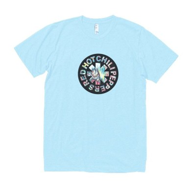 RED HOT CHILIPEPPERS 音楽・ロック・シネマ Tシャツ 水色