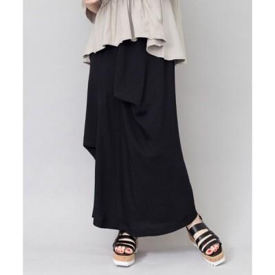 スカート タックドレープスカート