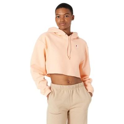 チャンピオン パーカー・スウェットシャツ アウター レディース Reverse Weave Cropped Cut Off Pullover Hoodie Certain Peach