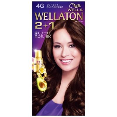 【医薬部外品】P&Gジャパン WELLATON 2+1(ウエラトーン ツープラスワン) クリームタイプ 4G(暗めの暖かみのある栗色) 1セット