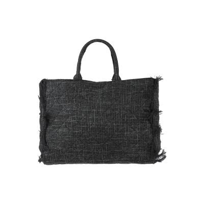 MIA BAG ハンドバッグ ブラック ポリエステル 73% / コットン 27% ハンドバッグ