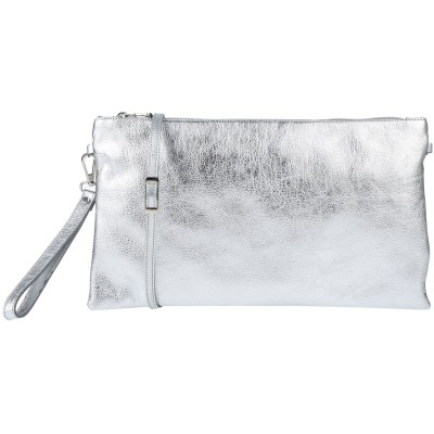 STELE ハンドバッグ シルバー 革 ハンドバッグ