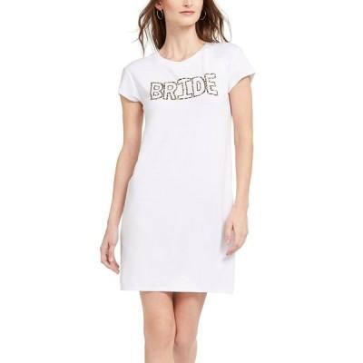アドリアナ パペル ワンピース トップス レディース Bride Little White T-Shirt Dress Ivory