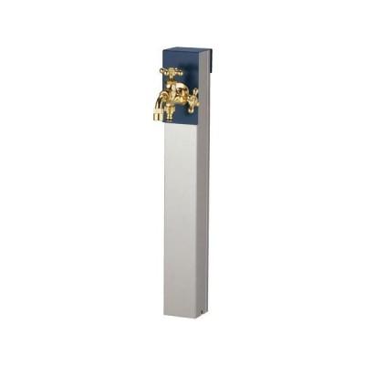 送料無料 立水栓リーナアロン650蛇口ツイン1個付きステンレス製(パンなし)