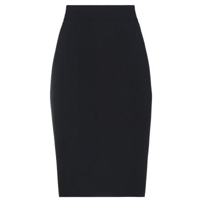 ブルマリン BLUMARINE ひざ丈スカート ブラック 38 コットン 98% / ポリウレタン 2% ひざ丈スカート