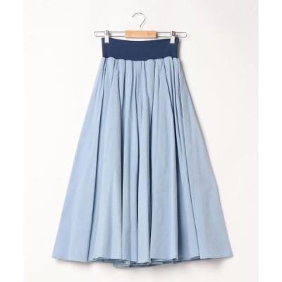 スカート 8枚ハギフレアーロングスカート