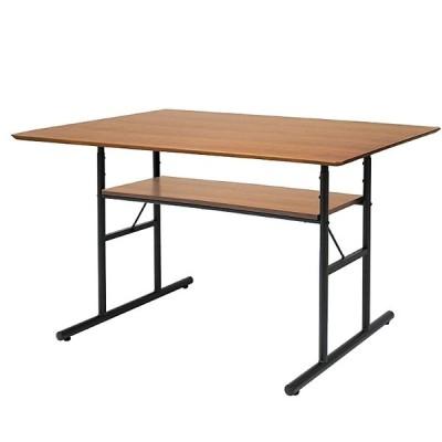 ダイニングテーブル 食卓テーブル120x75cm 食卓 机 収納 ラック ミッドセンチュリー おしゃれ ダイニング 食卓 インダストリアル ant-3049
