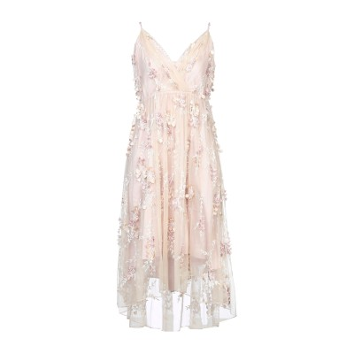 ELIE TAHARI 7分丈ワンピース・ドレス アイボリー 12 ナイロン 100% 7分丈ワンピース・ドレス