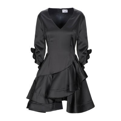 LEITMOTIV ミニワンピース&ドレス ブラック 46 ポリエステル 96% / ポリウレタン 4% ミニワンピース&ドレス