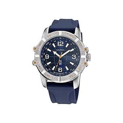 Nautica Men's Quartz Silicone Strap, Blue, 24 Casual Watch (Model: NAPGCF01