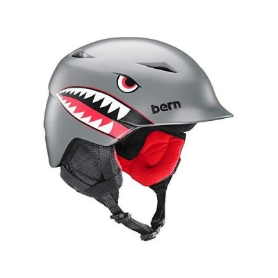BERN, Kids Camino Snow Helmet, Satin Grey Flying Tiger, S/M