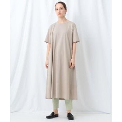 「L」【WEB限定】バックタックTシャツワンピース